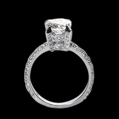Round Diamonds 2.26 Carat Engagement Anniversary Solitaire Ring White Gold 14K