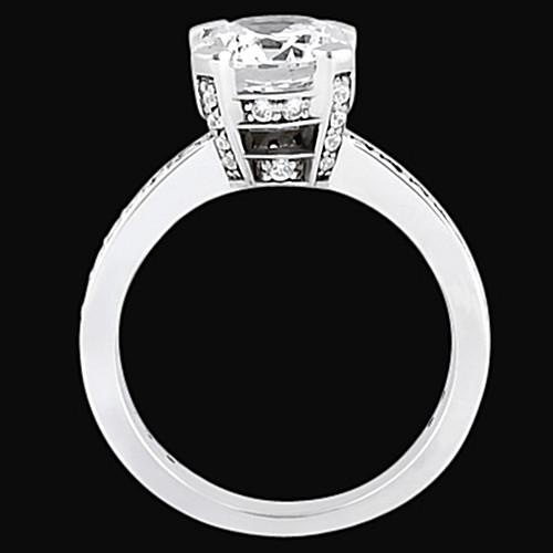 Solitaire Ring with Accents Round Diamonds Engagement Solitaire Ring Solitaire With Accents 2.26 Carats