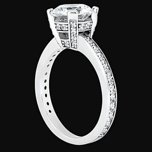 Round Diamonds Engagement Solitaire Ring Solitaire With Accents 2.26 Carats Solitaire Ring with Accents