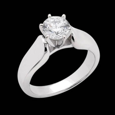 Sparkling Diamond 3 Carat Solitaire Engagement Ring