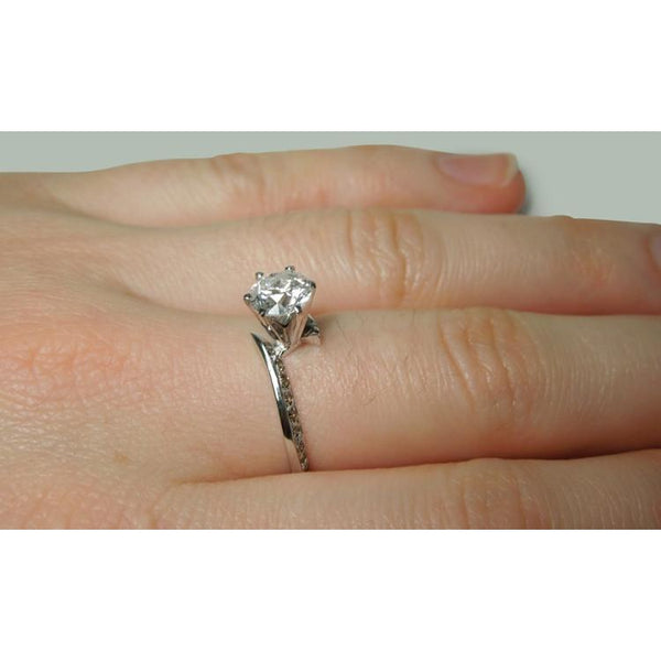 Anniversary Ring Round Diamond Anniversary Ring 1.36 Carats Jewelry New White Gold 14K