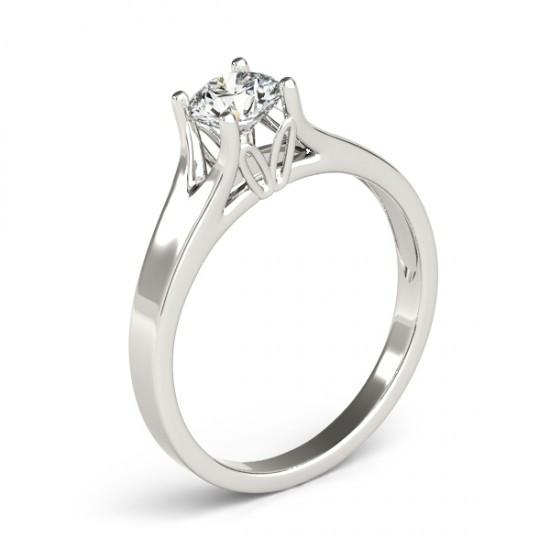 Solitaire Ring 1 Ct. Diamond Solitaire Ring Gold Engagement Jewelry