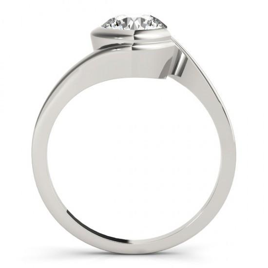 1.50 Carat Solitaire Round Diamond Engagement Ring Solid Gold 14K