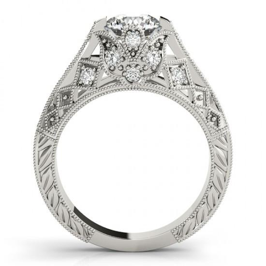 Sparkling Solitaire With Accent 1.5 Ct. Diamonds White Gold Engagement Ring