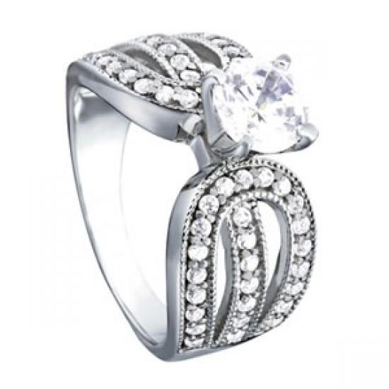 1.35 Carats Round Diamonds Prong Set Engagement Solitaire Ring White Gold 14K