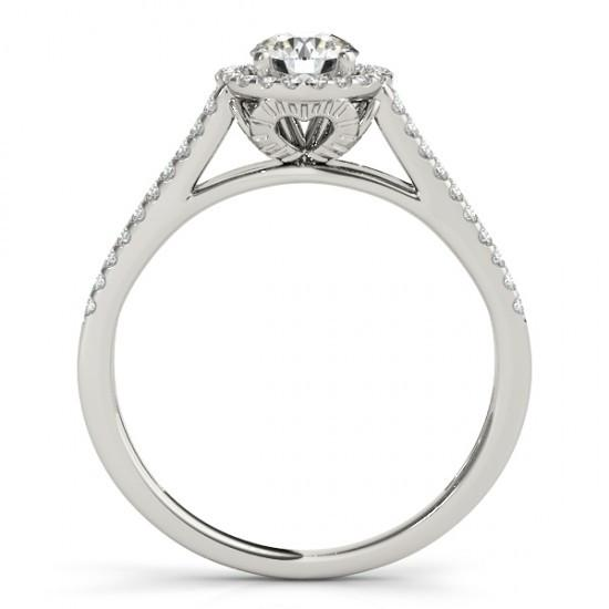 Round Diamonds Solitaire Sparkling 1.50 Carats With Engagement Ring White Gold 14K