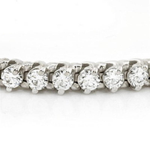 Tennis Bracelet 5 Carats Round Diamonds Tennis Bracelet White Gold 14K Jewelry New