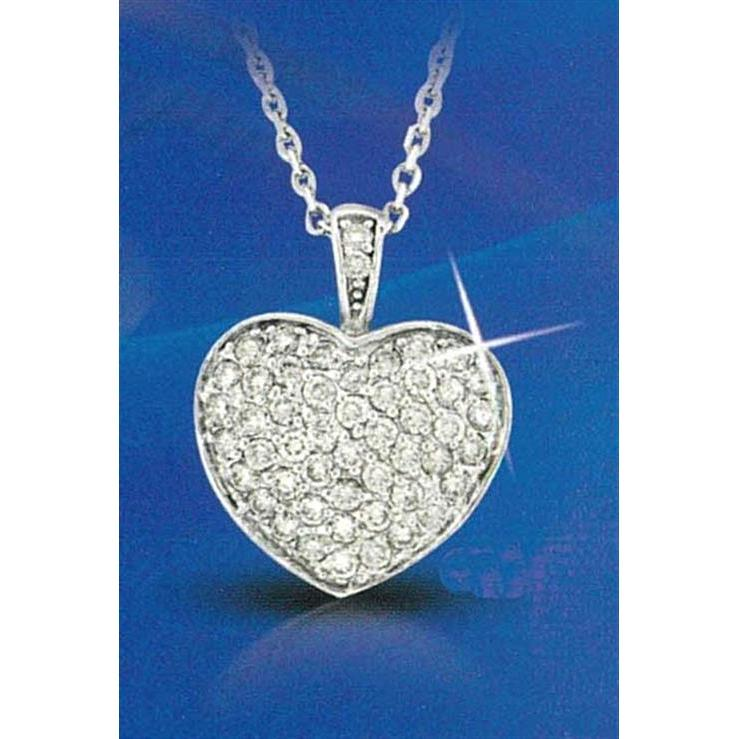 1.3 Ct Heart Shape Pendant Diamond Pendant
