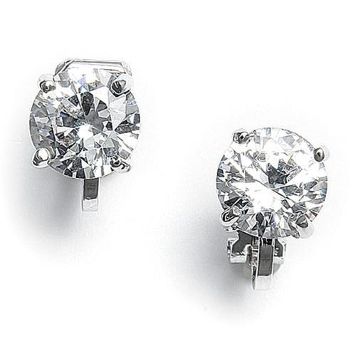 1.3 Ct Round Brilliant Diamond Stud Earring 14K White Gold Stud Earrings