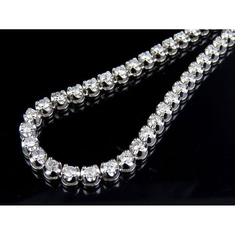 13 Ct White Gold Diamond Tennis Necklace Fine Jewelry Necklace