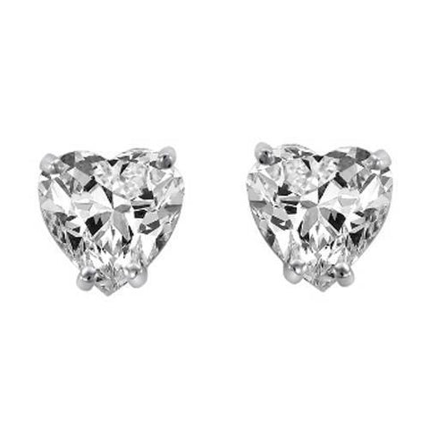 1.30 Ct Heart Cut Diamond Stud Earring Women Gold Jewelry Stud Earrings