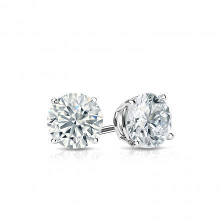 1.30 Ct. Round Stud Diamond Earring Solid White Gold Lady Jewelry Stud Earrings