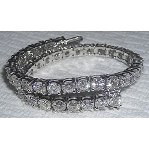 14 Carat Diamond Tennis Bracelet Sparkling Vs Diamonds 14K Solid White Gold Tennis Bracelet