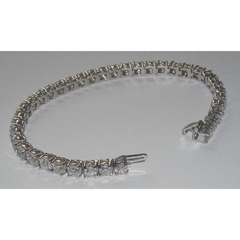14 Carats Diamond Tennis Bracelet Vs Jewelry White Gold Bracelet Tennis Bracelet