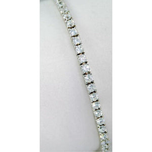 14 Carats Tennis Bracelet White Gold Fine Jewelry Round Cut Prong Set Diamond Tennis Bracelet