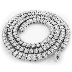14 Ct Round Diamond Strand Tennis Necklace 28 Inch White Gold 14K Necklace