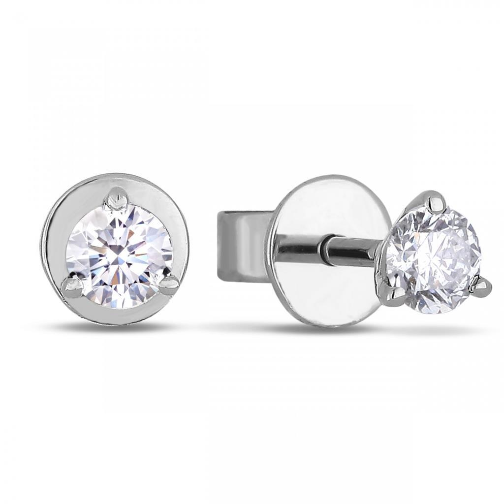 1.4 Ct Solitaire Round Cut Diamond Stud Earring Stud Earrings