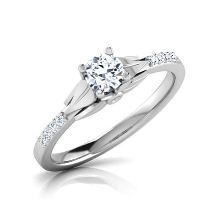 1.40 Carats Round Cut Diamond Engagement Ring White Gold 14K Engagement Ring
