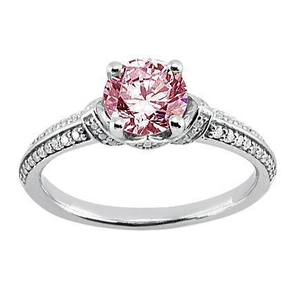 1.41 Ct Round Diamond Gemstone Ring Gemstone Ring