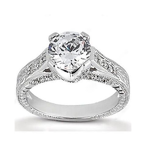 1.43 Ct. G Si Round Diamond Engagement Ring Gold Jewelry Engagement Ring