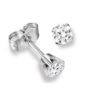 1.45 Ct Round Solitaire Diamond Stud Earring 14K White Gold Stud Earrings