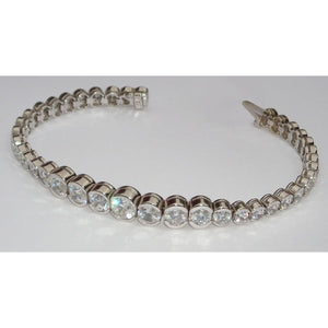 14.75 Carats Diamond Tennis Bracelet Vs Graduated Bezel Tennis Bracelet