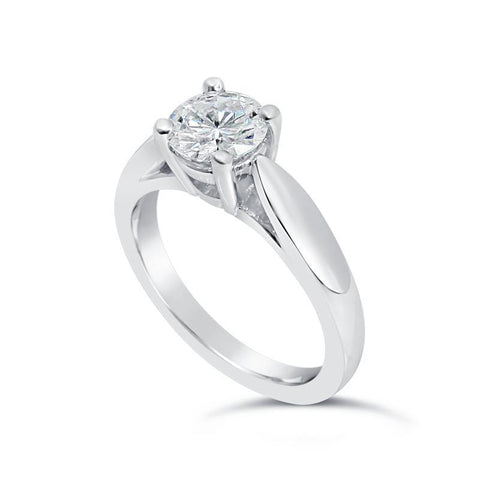 14K Gold White 1.50 Carat D Vs1 Round Cut Solitaire Diamond Engagement Ring Solitaire Ring