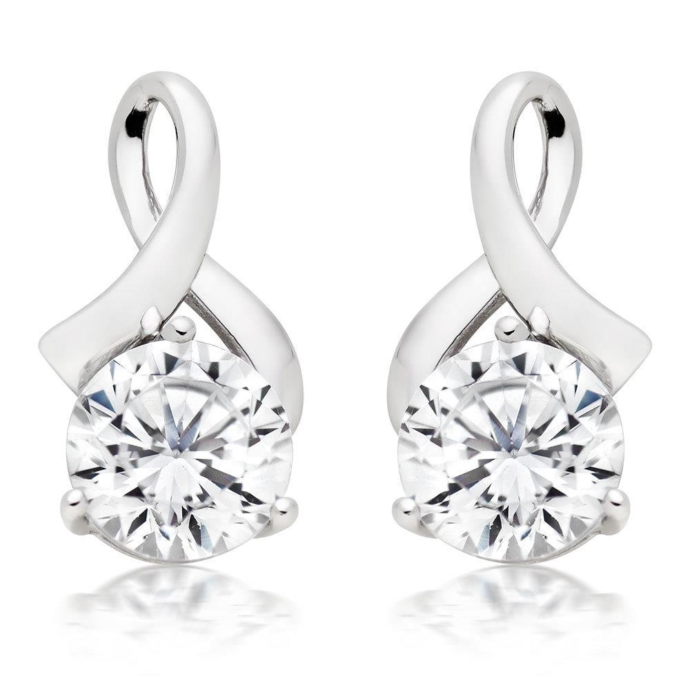 14K White Gold 3.80 Ct Round Cut Diamonds Ladies Drop Earrings New Drop Earrings