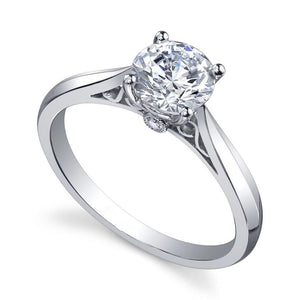 14K White Gold Brilliant Cut 1.35 Carats Diamonds Wedding Solitaire Ring New Solitaire Ring
