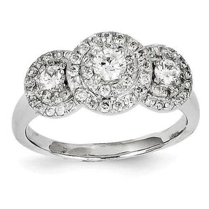 14K White Gold Diamond Ring Ring