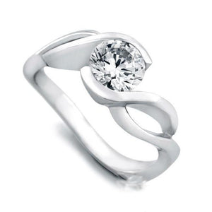 14K White Gold F Vs1 Round Cut 2.75 Ct Diamond Engagement Ring New Solitaire Ring
