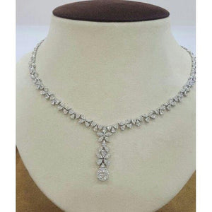 14K White Gold Women Necklace 27 Carats New Necklace