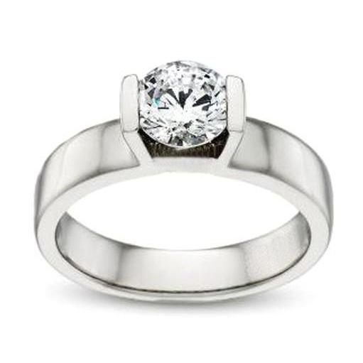 1.5 Carat Diamond Solitaire Engagement Ring White Gold Solitaire Ring
