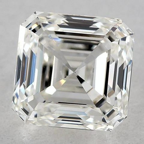 1.5 Carats Asscher Diamond Loose E Fl Very Good Cut Diamond