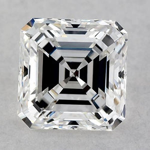 1.5 Carats Asscher Diamond Loose F Fl Very Good Cut Diamond