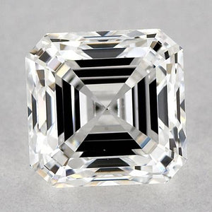 1.5 Carats Asscher Diamond Loose F Vvs2 Very Good Cut Diamond