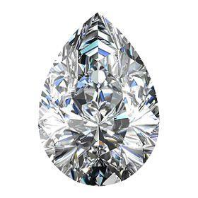 1.5 Carats Pear Cut Natural Loose Diamond Sparkling Diamond