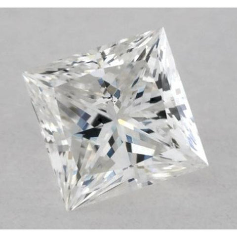 1.5 Carats Princess Diamond Loose G Si1 Very Good Cut Diamond