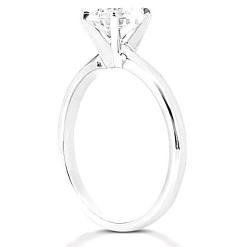 1.5 Ct. Diamond Solitaire F Vs1 Ring White Gold 18K Jewelry Solitaire Ring