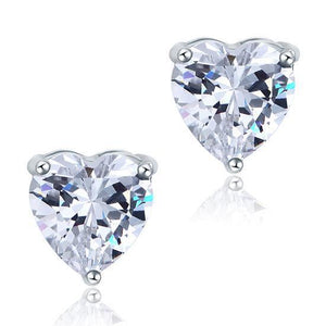 1.5 Ct Heart Cut Diamond Stud Earrings Solid White Gold Sparkling Stud Earrings