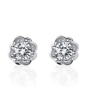 1.5 Ct Round Diamond Stud Earring 14K White Gold New Stud Earrings