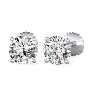 1.5 Ct Solitaire Round Prong Set Diamond Studs Earring Stud Earrings