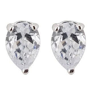 1.5 Ct Three Prong Setting Pear Cut Diamond Stud Earring Stud Earrings
