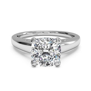 1.50 Carat Cushion Cut Diamond Solitaire Ring White Gold 14K New Solitaire Ring