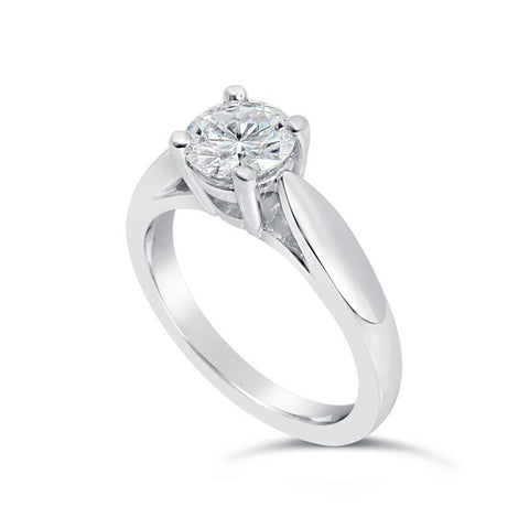 1.50 Carat D Vs1 Round Cut Diamond Wedding Solitaire Ring Solitaire Ring
