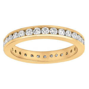 1.50 Carat Round Brilliant Diamond Channel Set Diamond Eternity Band Gold 14K Band