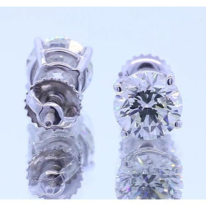 1.50 Carats Diamond Stud Earring Four Prong White Gold 14K Stud Earrings