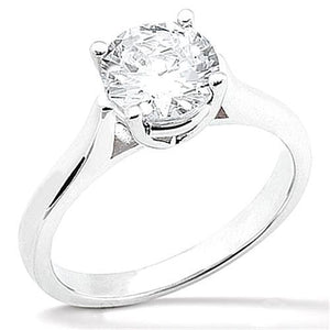 1.50 Carats F Vs1 Diamond Solitaire White Gold 14K Engagement Ring Solitaire Ring