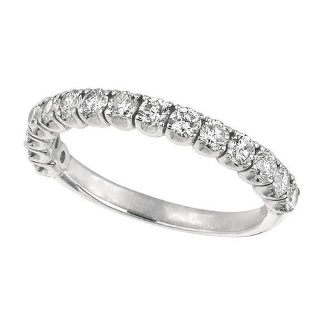 1.50 Carats Round Brilliant Diamond Half Eternity Band Jewelry Eternity Band