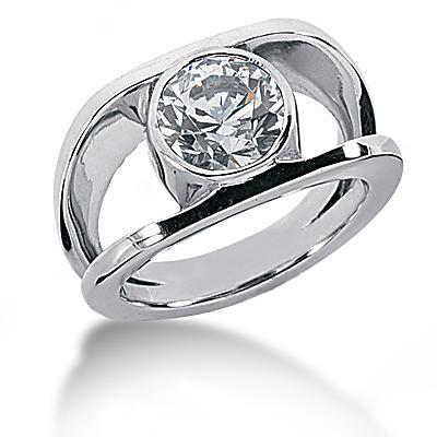 1.50 Carats Solitaire Diamond Anniversary Ring Split Shank Mens Ring